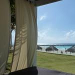 Beachfront cabana at the Hyatt Regency Cancun. Photo credit: M. Ciavardini