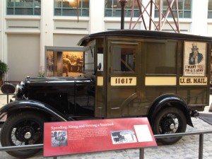An old mail truck at the National Postal Museum. Photo credit: L. Tripoli