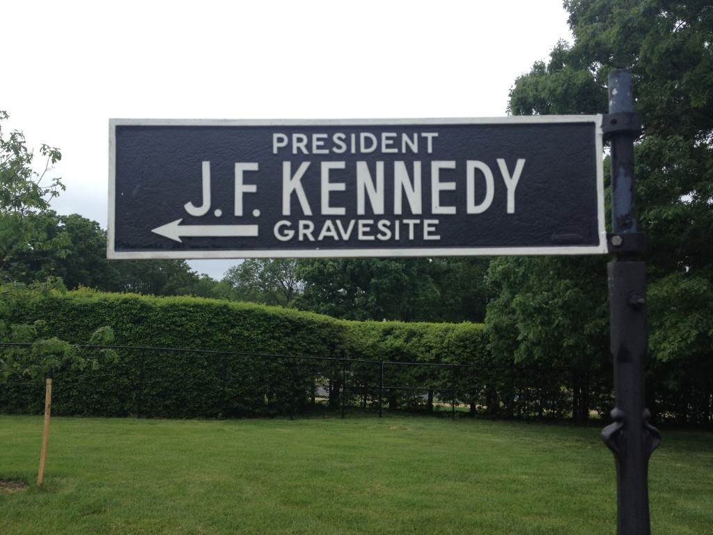 The Kennedy family graves at Arlington Cemetery are prominently placed. Photo credit: L. Tripoli