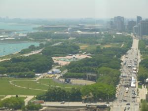 View of Millennium Park from the Fairmont Chicago. Photo credit: M. Ciavardini