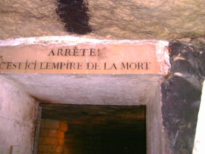 The Paris Catacombs are the empire of the dead.  Photo credit: L. Tripoli