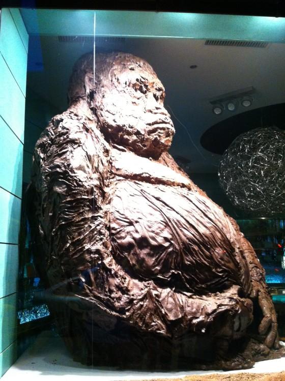 Chocolate gorilla Paris