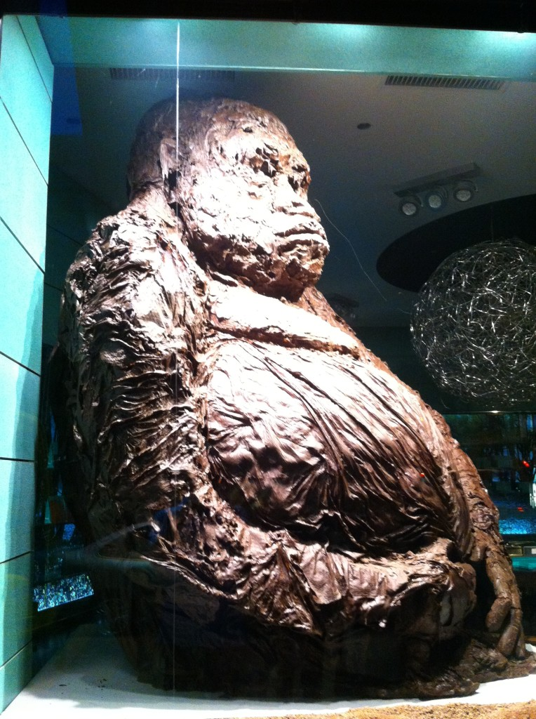 A chocolate gorilla at Patrick Roger Chocolatier in Paris Photo credit: V. Laino