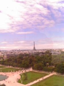 Sightseeing from a ferris wheel, Paris Photo credit: L. Tripoli