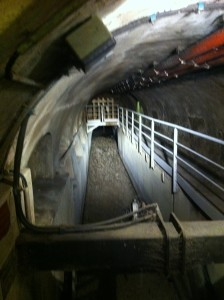Searching for rats while touring Parisian sewers Photo credit: V. Laino