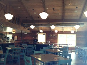 If only all truck stops were as soothing as Truck, the restaurant in Bedford Village, N.Y. Photo credit: L. Tripoli