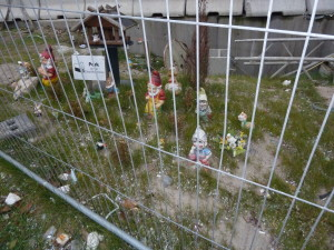 Imprisoned gnomes at the Elbe Philharmonic Hall construction site in Hamburg, Germany Photo credit: M. Ciavardini