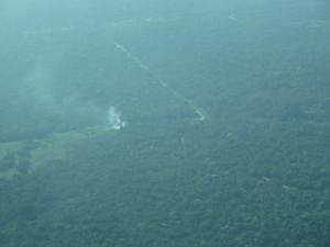 Jungle burning in Belize Photo credit: M. Ciavardini