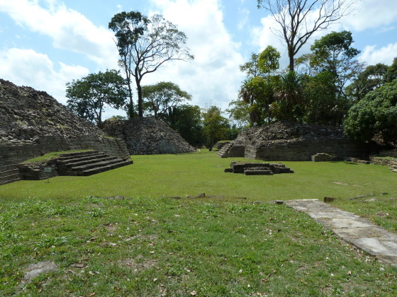 The structures at Lubaantun were built without mortar. Photo credit: M. Ciavardini