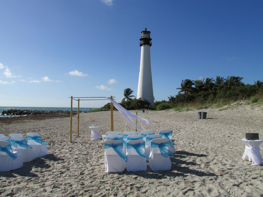 Prenuptials at the Key Biscayne, Fla. lighthouse. Photo credit: :M. Ciavardini