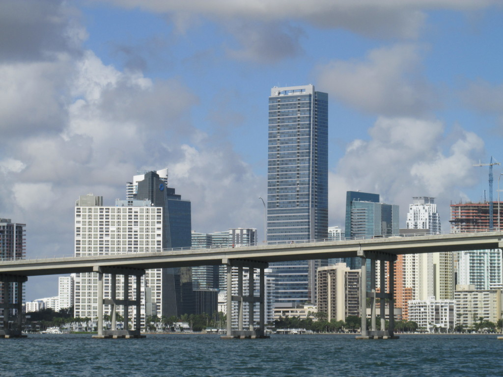 Miami as seen from just beyond the Rickenbacker Causeway. Photo credit: M. Ciavardini