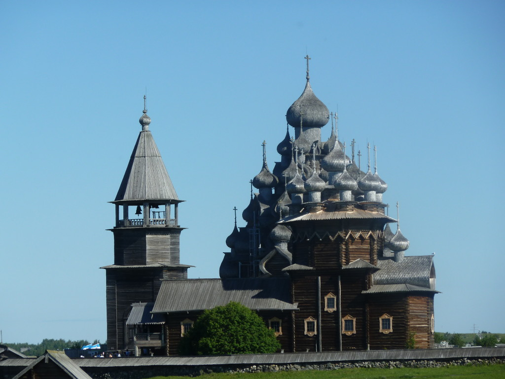 The Church of Transfiguration in Kizhi, Russia, was constructed of wood in the 1700s without benefit of nails. Photo credit: M. Ciavardini