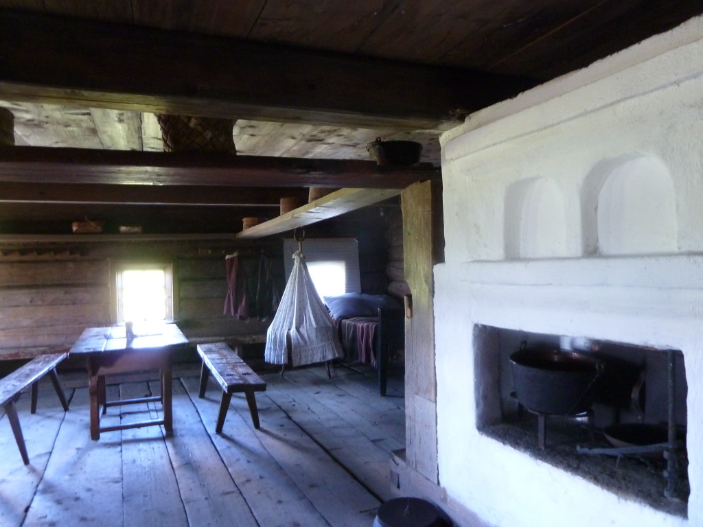Rustic living in Kizhi. Children and elders would sleep on top of the fireplace in winter. Photo credit: M. Ciavardini