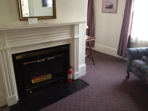 One of two working fireplaces in a suite at the Salem Inn in Massachusetts. Photo credit: M. Ciavardini