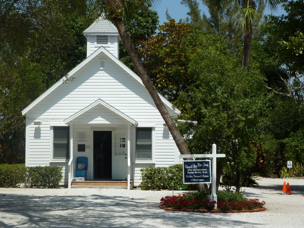 The Chapel By The Sea is really by the Gulf of Mexico on Captiva Island, Fla. Photo credit: M. Ciavardini