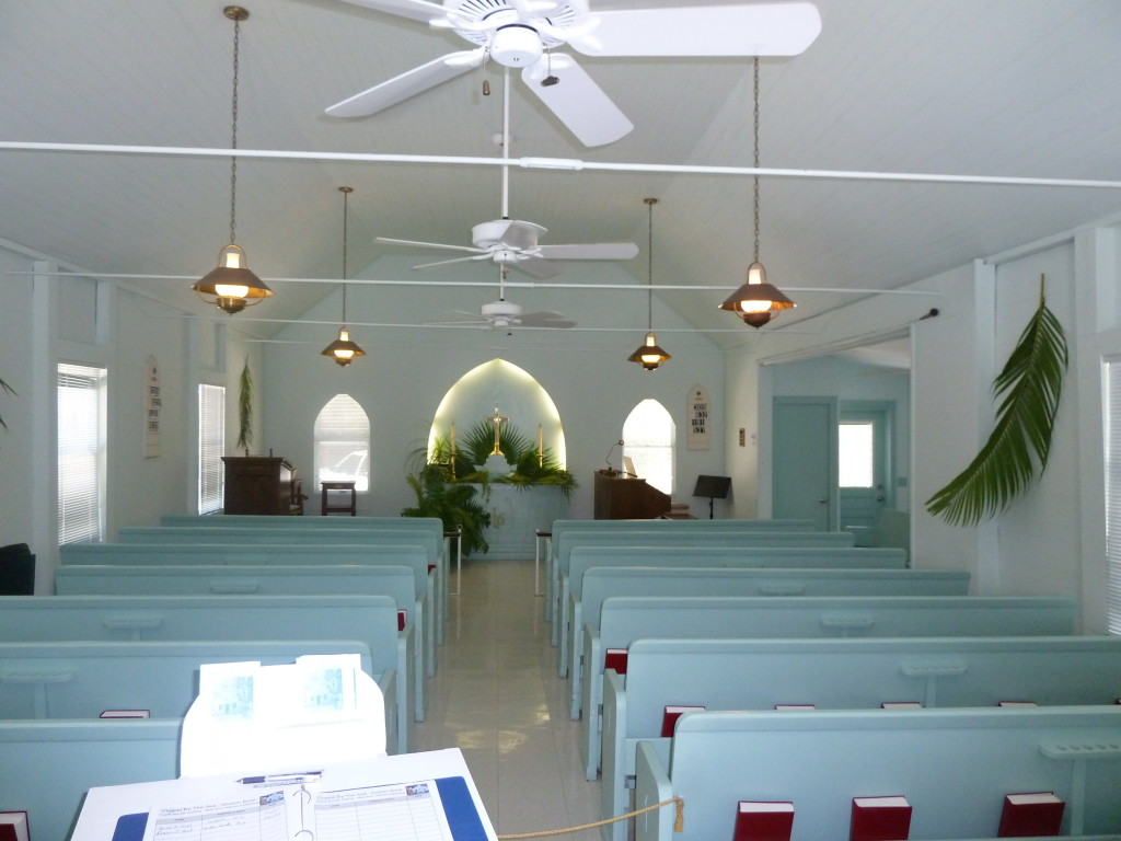 The interior of the Chapel-By-The-Sea in Captiva, Fla., is as peaceful as its grounds are. Photo credit: M. Ciavardini