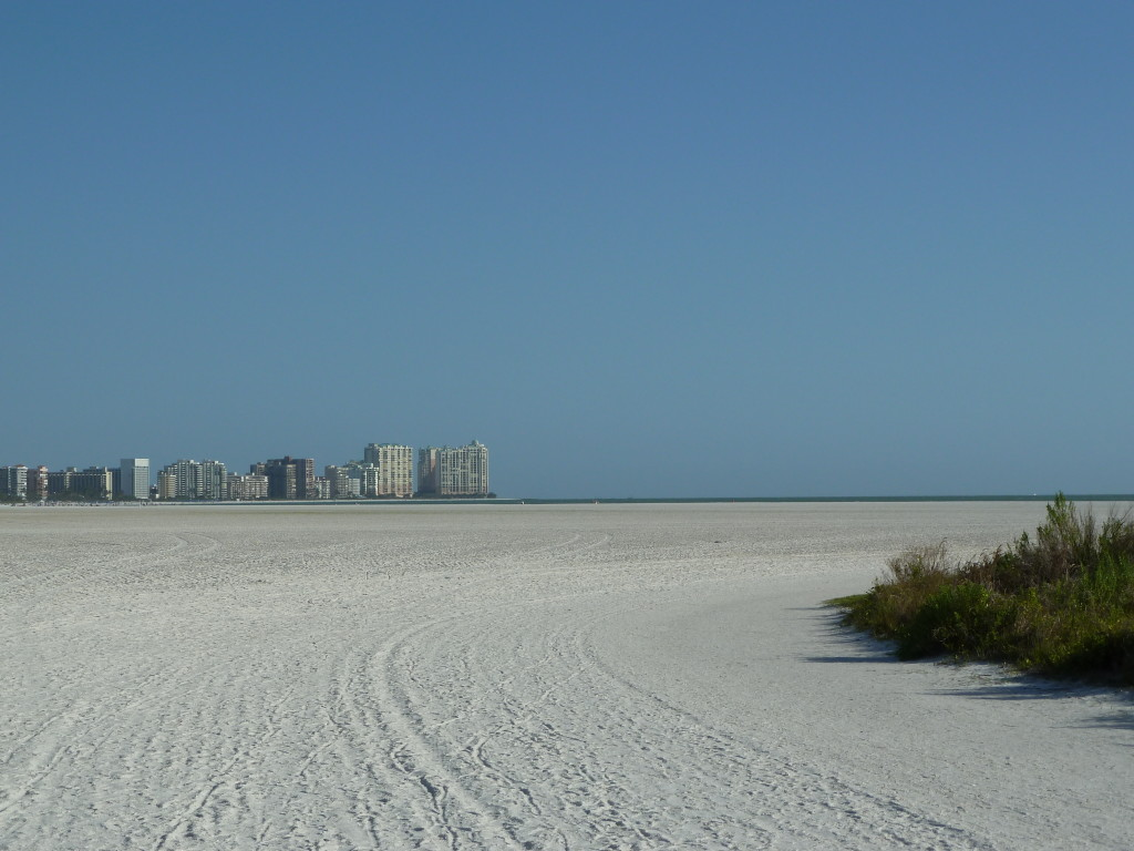 The beach on Marco Island on the Gulf Coast of Florida was surprisingly empty on our visit. Photo credit: M. Ciavardini