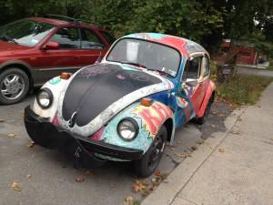 A vintage Beetle in Woodstock, N.Y. Photo credit: M. Ciavardini