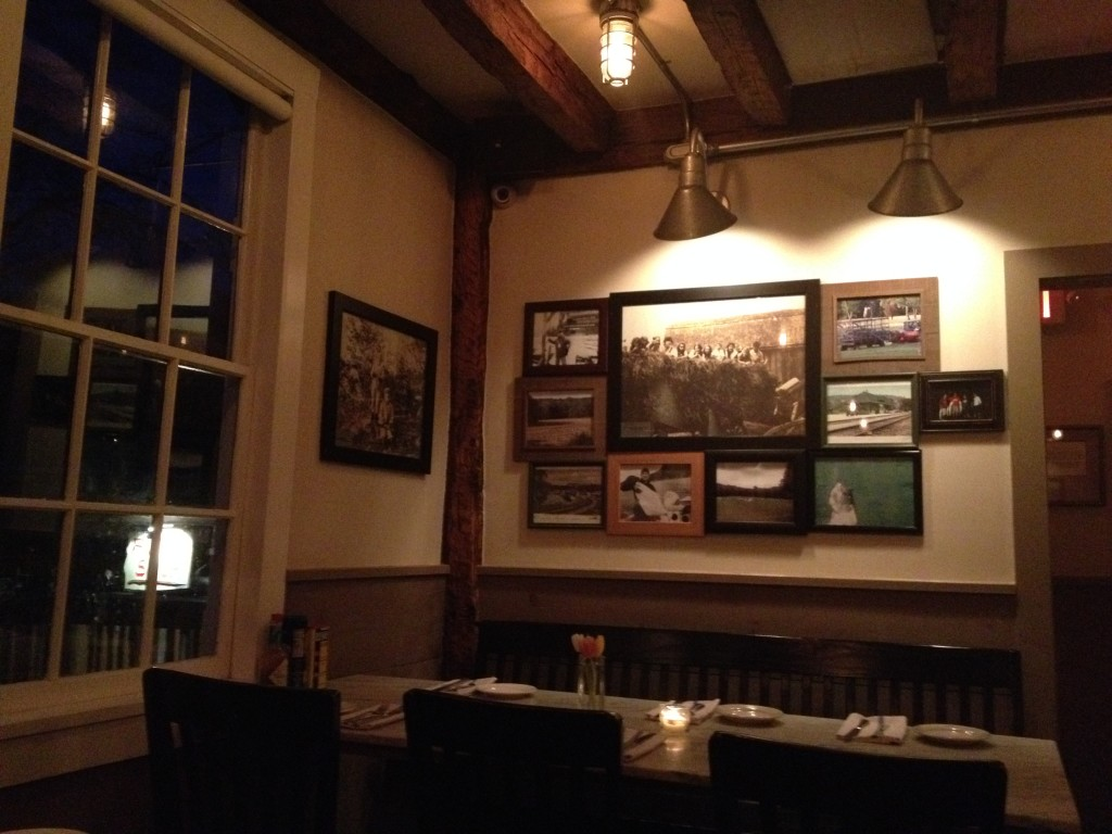 Purdy's Farmer and the Fish restaurant is sited in an old farmhouse built in 1775. Photo credit: L. Tripoli