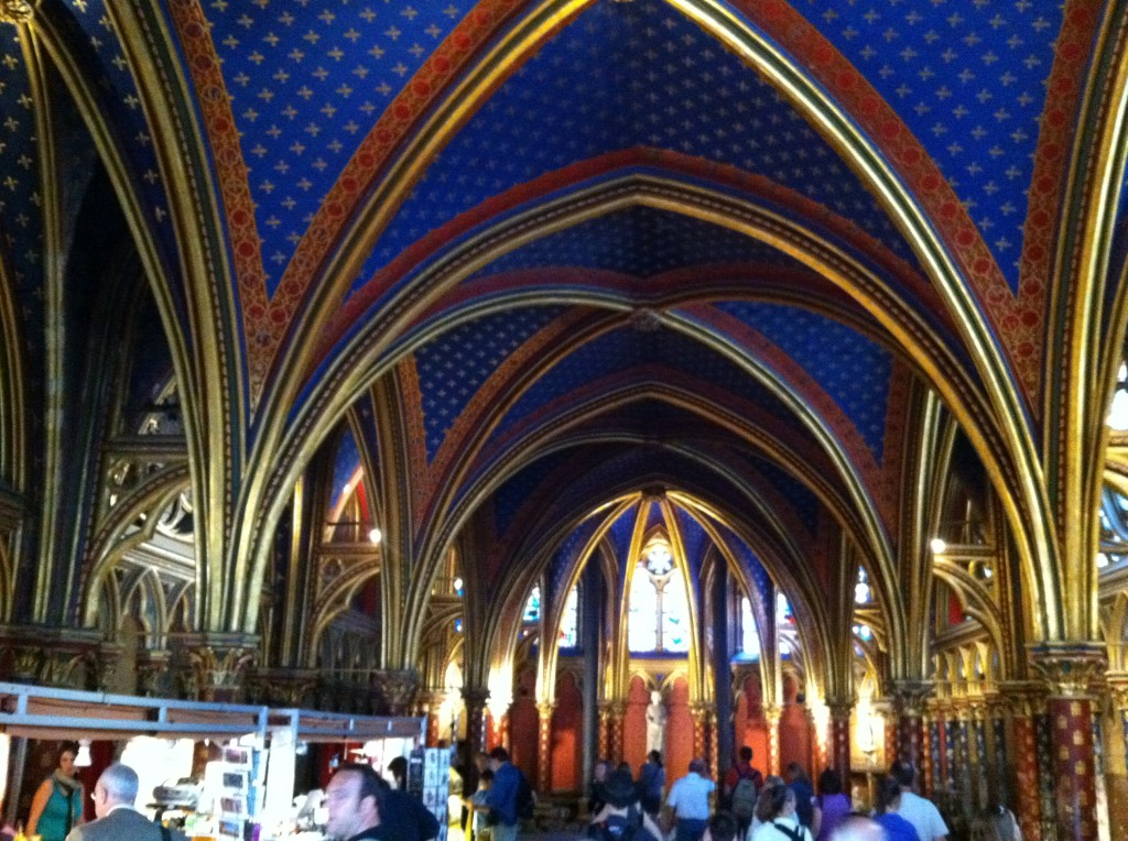 The lower chapel in Sainte Chapelle yields a surprise upstairs.  Photo credit: V. Laino