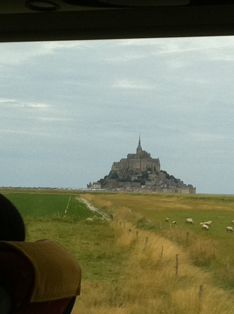 First sighting of Mont Saint-Michel. Photo credit: V. Laino