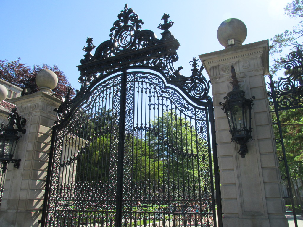 Was life within the barrier better for the servants or the served? Here, the entrance to the Breakers, Newport, R.I. Photo credit: M. Ciavardini