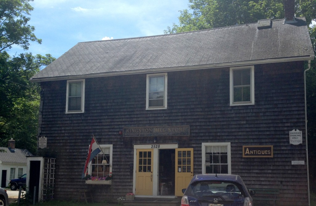 Check out the local history section at the Kingston Hill Store on Kingstown Road (Route 138) in Kingston, R.I. Photo credit: M. Ciavardini