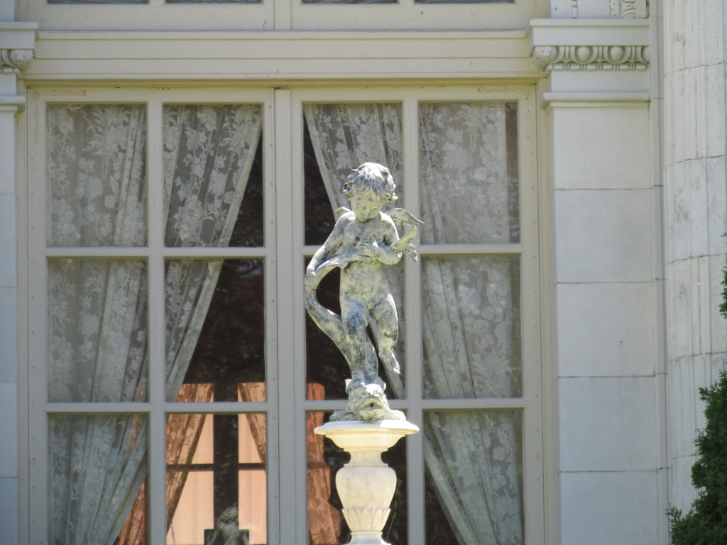 From the outside looking in at Rosecliff in Newport, R.I. Photo credit: M. Ciavardini