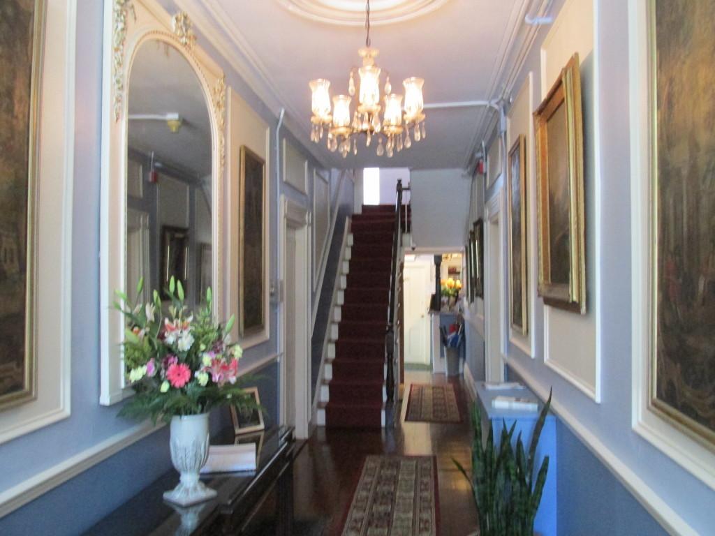 Entrancing entrance hall at the Yankee Peddler Inn, Newport, R.I. Photo credit: L. Tripoli