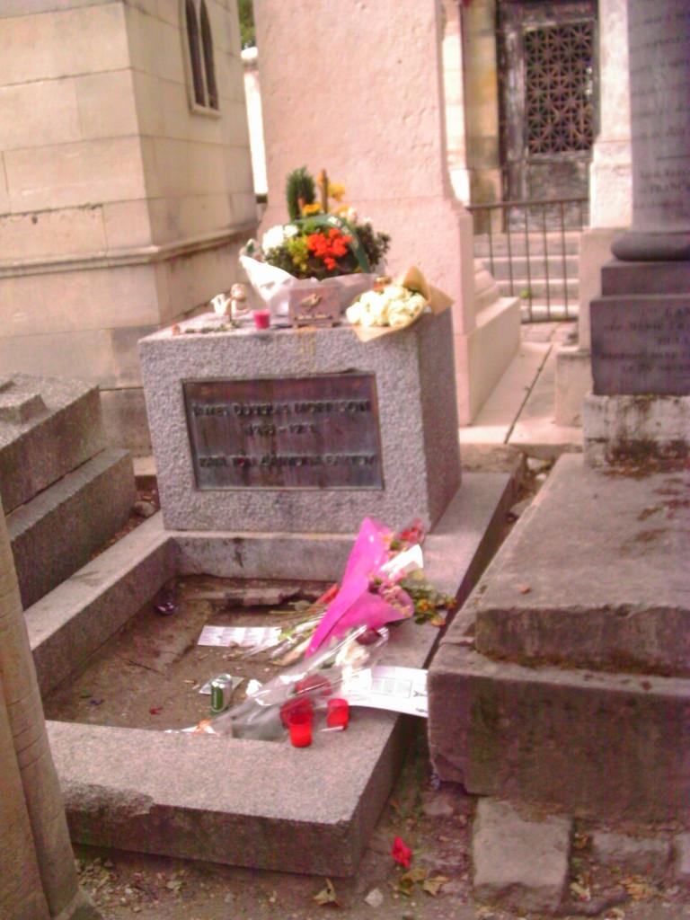 Musician Jim Morrison of The Doors is buried in Paris. Photo credit: L. Tripoli