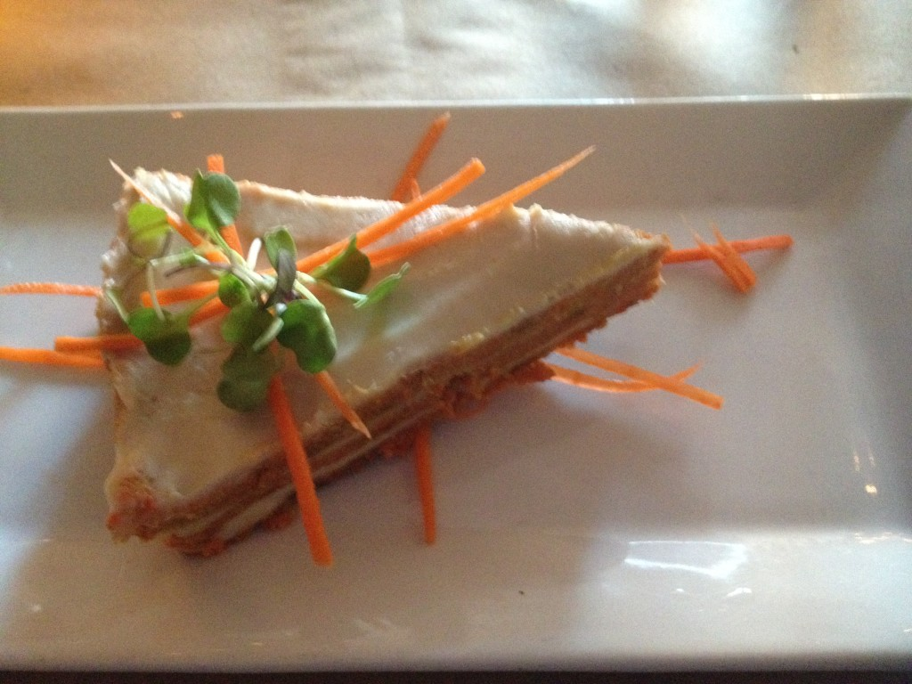 Raw vegan carrot cake at Karyn's on Green, Chicago Photo credit: M. Ciavardini