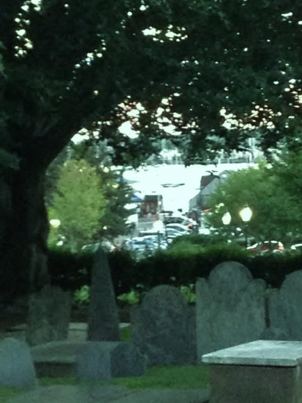 One can't help but wonder what this place has seen. Trinity Church graveyard, Newport, R.I. Photo credit: M. Ciavardini