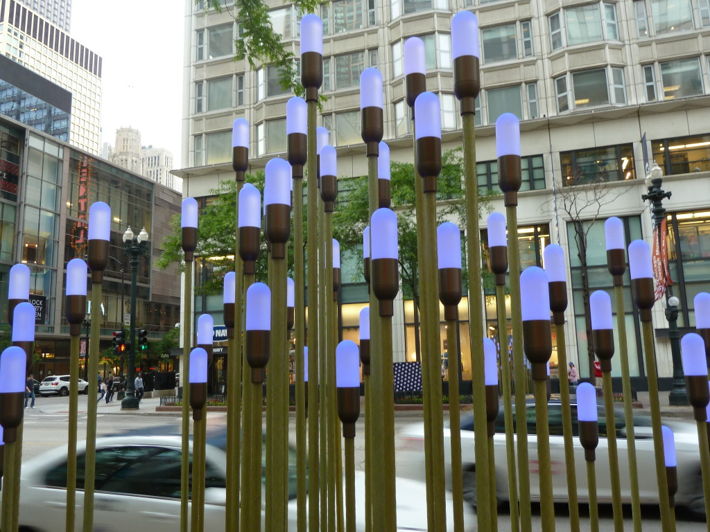 Lightscape on State Street in Chicago Photo credit: M. Ciavardini