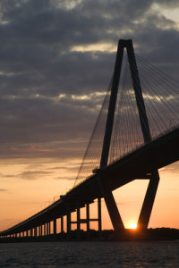 The Cooper River Bridge in Charleston, S.C.