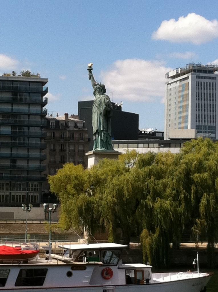 Strolling through Paris, a New Yorker finds a familiar landmark. Photo credit: V. Laino