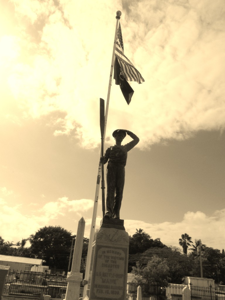 A memorial to the battleship Maine at Florida's Key West Cemetery Photo credit: M. Ciavardini