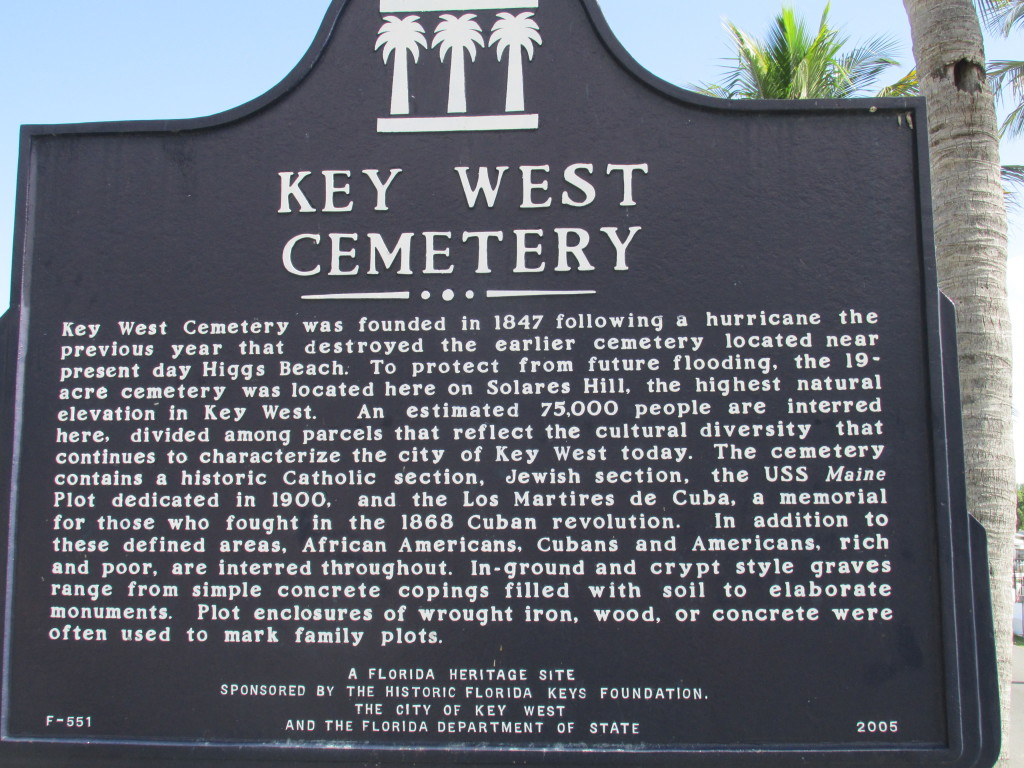 A Key West Cemetery bio Photo credit: M. Ciavardini