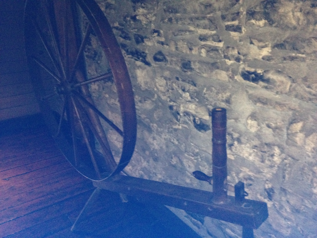 A spinning wheel at Hoffman House Tavern Photo credit: M. Ciavardini