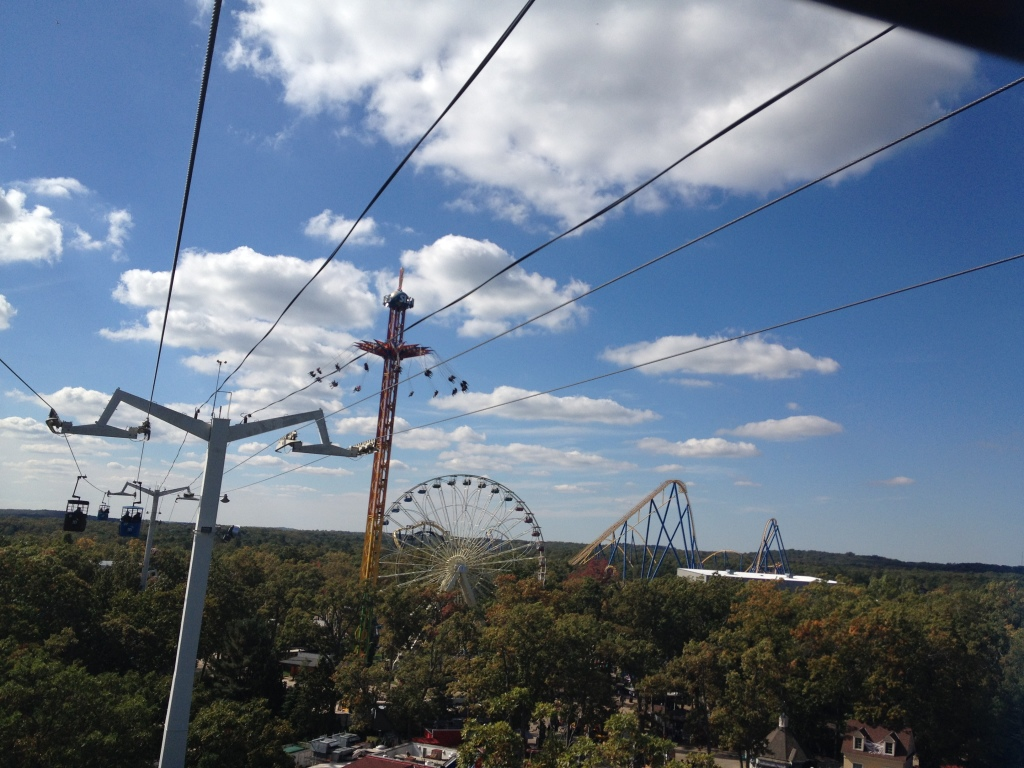 Some of us go for the slow rides at Six Flags Great Adventure in Jackson, N.J. Photo credit: M. Ciavardini