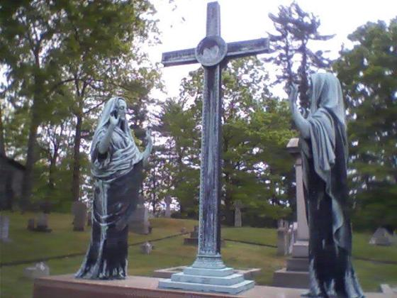 Graveyard art, St. Philip's Church in the Highlands, Garrison, N.Y. Photo credit: M. Ciavardini