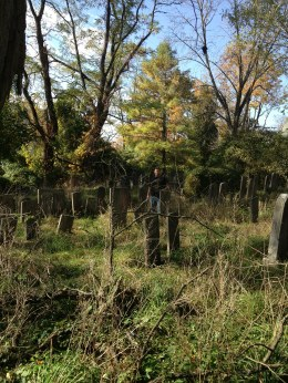 The Brawny Sherpa in an overgrown graveyard in Pleasantville, N.Y. Photo credit: L. Tripoli