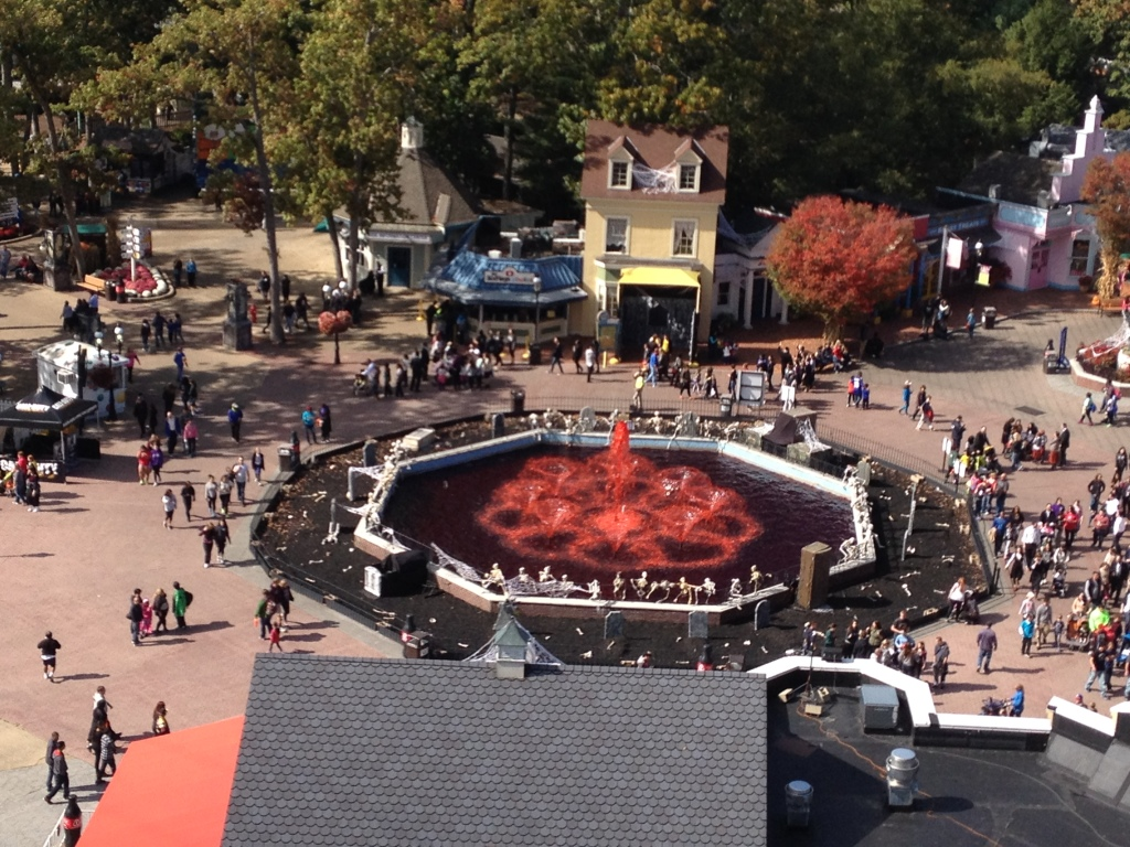 A sign of the season at Six Flags Great Adventure Photo credit: M. Ciavardini