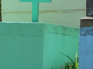 A brightly colored grave in Belize Photo credit: M. Ciavardini