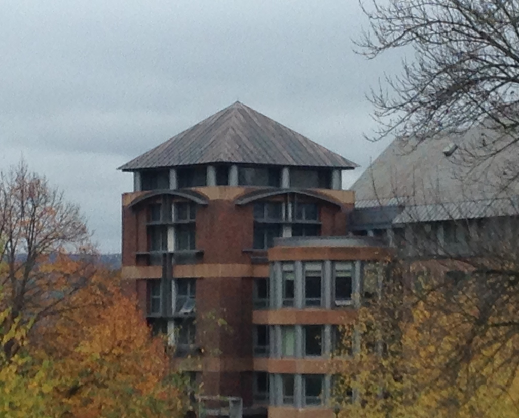 Newer construction integrates well with older buildings on the Colgate campus. Photo credit: M. Ciavardini