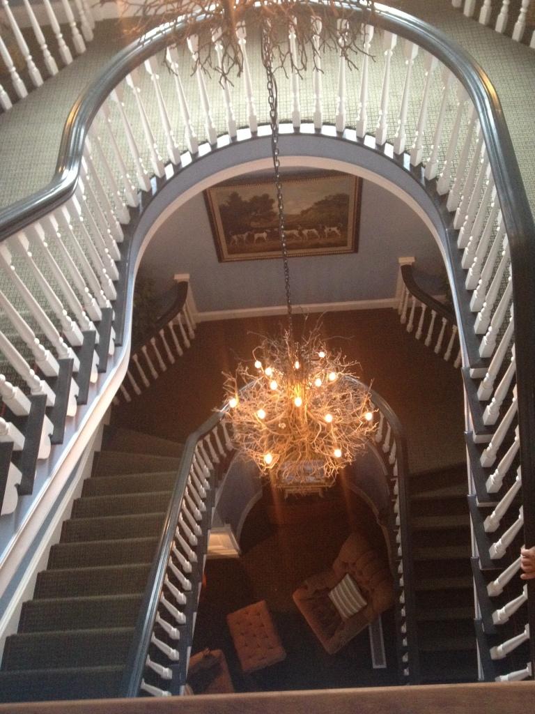 The staircase at the Colgate Inn, Hamilton, N.Y. Photo credit: M. Ciavardini