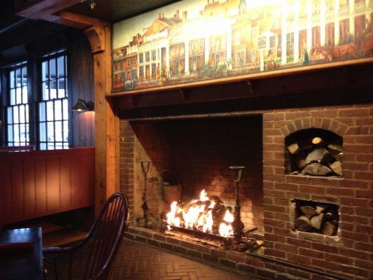 Tavern fireplace, the Colgate Inn, Hamilton, N.Y. Photo credit: M. Ciavardini