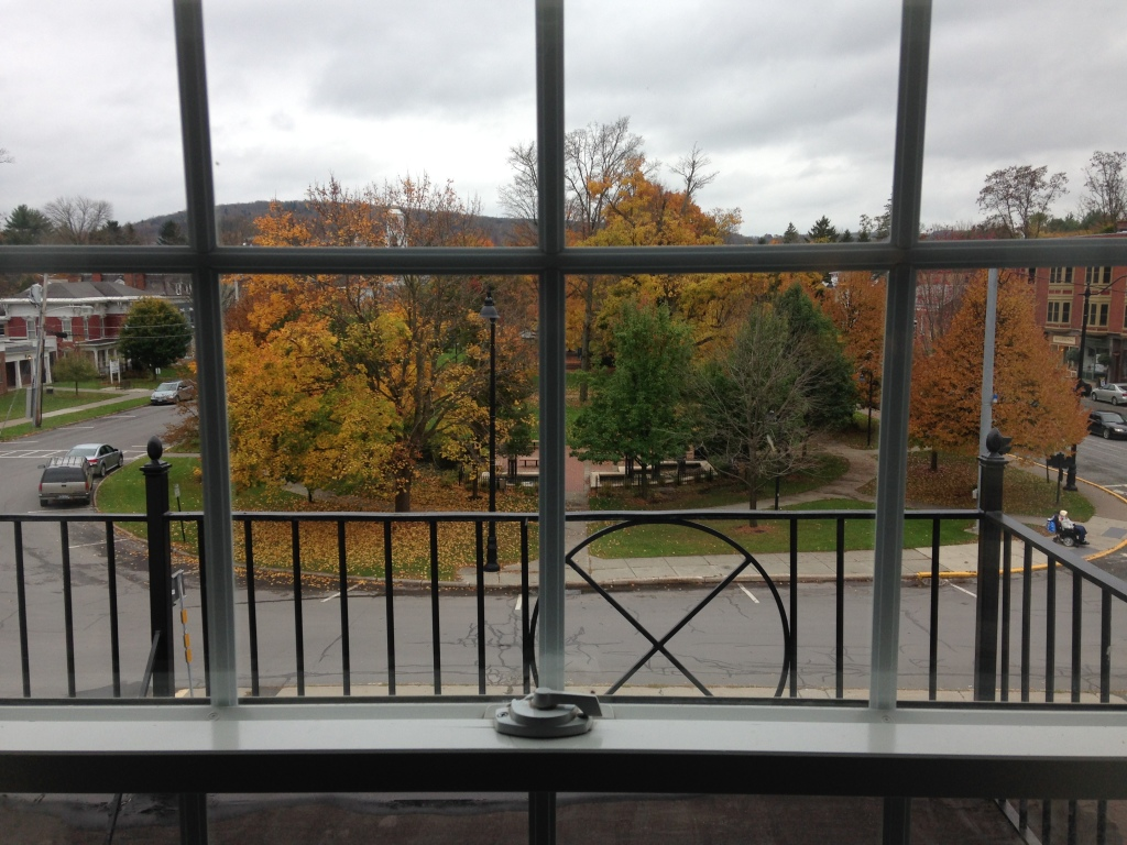 The view from our room on the third floor of the Colgate Inn, Hamilton, N.Y. Photo credit: M. Ciavardini