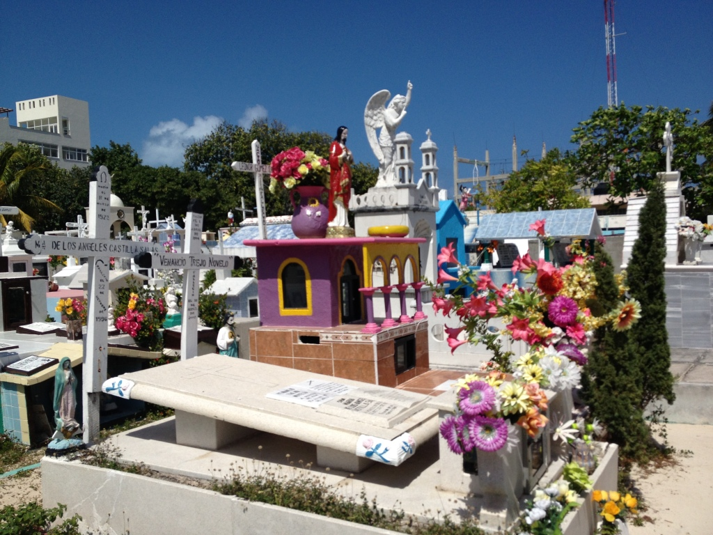 Cheery brightness in a graveyard on Isla Mujeres, Mexico Photo credit: M. Ciavardini