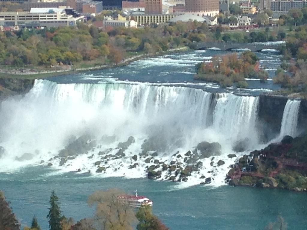 View of the American Falls from the Fallsview Hilton, Niagara Falls, Canada Photo credit: M. Ciavardini
