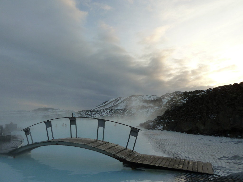 Despite its popularity as a tourist destination, the Blue Lagoon geothermal spa in Grindavik, Iceland, is tranquil and not too crowded. Photo credit: M. Ciavardini